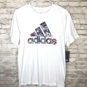 NEW Adidas Youth Boys White T-Shirt
